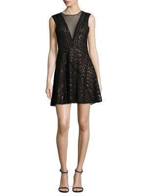 Aniya Sequined Tulle Dress