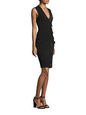 Lace-Up V-Neck Dress