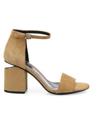 Abby Tilt-Heel Suede Sandals