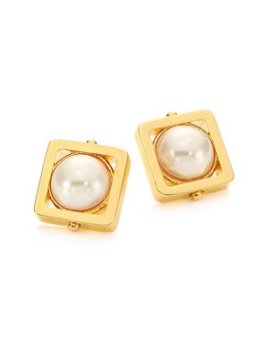 Caged Stone Stud Earrings