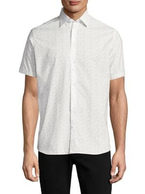 Short Sleeve Button Down Cotton Shirt