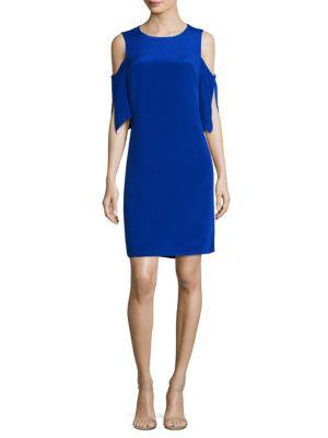 Saige Cold-Shoulder Silk Dress