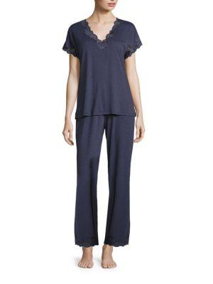 NATORI SLEEPWEAR Zen Floral Pajama Set