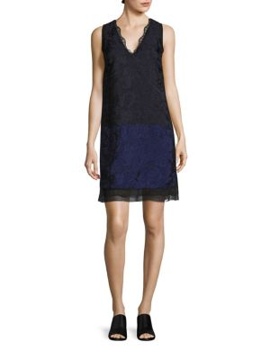 Buy 3.1 Phillip Lim Colorblock Lace Shift Dress online with Australia wide shipping
