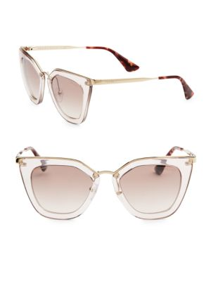 52MM Mirrored Cat Eye Sunglasses
