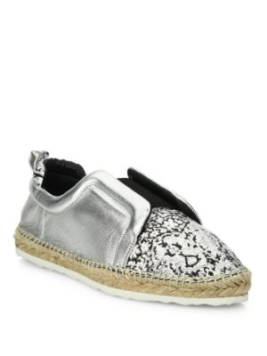 Sliderdrille Metallic Leather Espadrille Sneakers