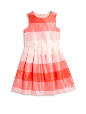 Toddler & Little Girl's Lee Stripe Fit-&-Flare Dress