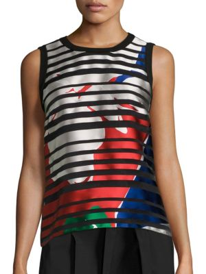 Inyna Silk Blend Top by BOSS
