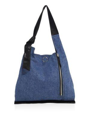 Elise Denim Shoulder Bag
