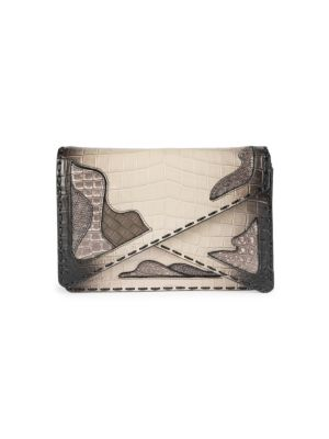 Exotic Crocodile & Leather Clutch 0400093280467