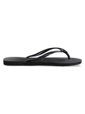 Slim Swarovski Crystal Flip-Flops