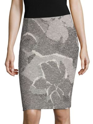 Marala Jacquard Pencil Skirt