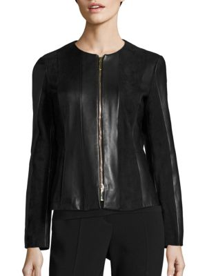 Sapato Suede & Leather Jacket by BOSS