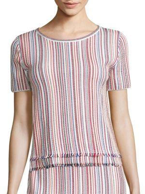 Fina Striped Knit Top by BOSS