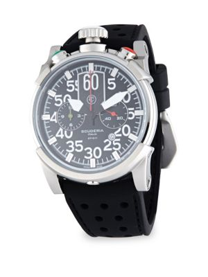 CT SCUDERIA Saturno Stainless Steel & Leather Strap Watch