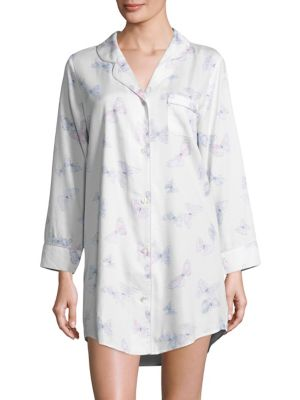 COLLECTION Button-front Butterfly Sleepshirt