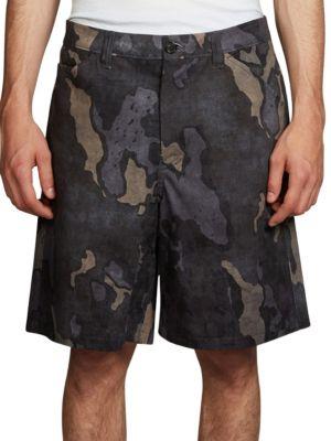 Allan Camo Print Shorts