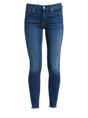 b(air) Mid-Rise Raw-Edge Ankle Skinny Jeans