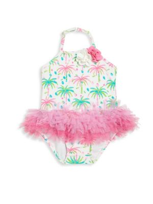 Baby's Palm Print One-piece Swimsuit