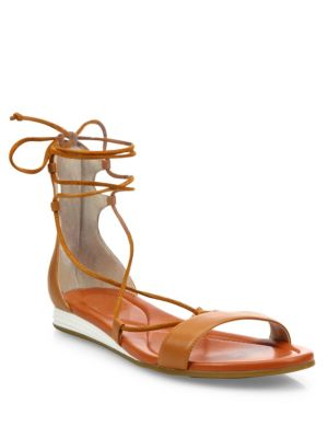 Grand Leather Lace-Up Sandals