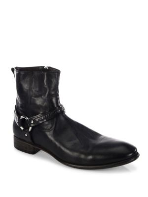 Eldridge Harness Leather Ankle Boots