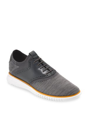 2.ZeroGrand Packable Saddle Knit Oxfords