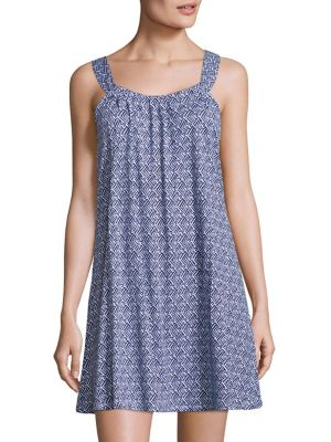 COLLECTION Geometric Printed Knit Dress