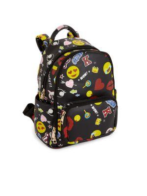 Kid's Printed Emoji Backpack