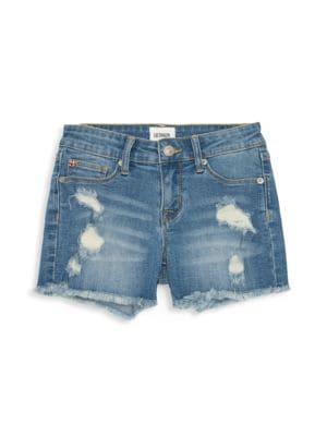 Little Girl's & Girl's Ava Distressed Fray Shorts