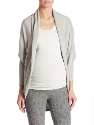 Maternity Convertible Open-Front Cardigan