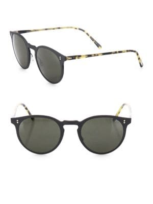 Elias 49MM Patterned Round Sunglasses