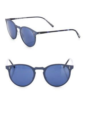 Elias 49MM Round Monochromatic Sunglasses