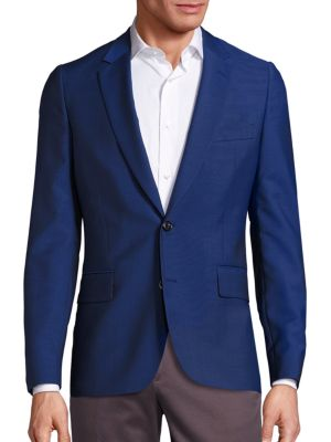 Soho Slim-Fit Knitted Wool Blazer
