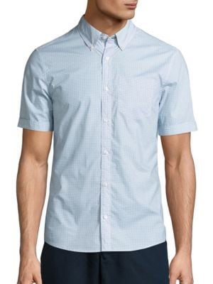 michael kors male vincent geometric printed sportshirt