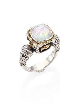 KONSTANTINO | Nemesis Mother-Of-Pearl Doublet Ring | Goxip