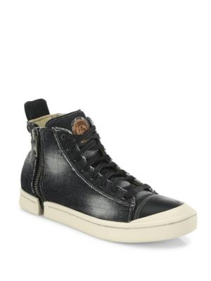Nentish Zip-Round Denim Mid-Top Sneakers