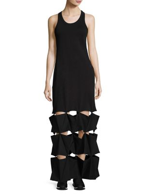 Solid Cropped Dress