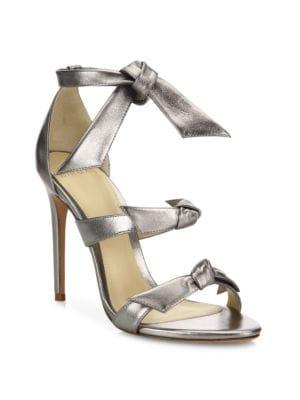 Lolita Bow Metallic Leather Sandals