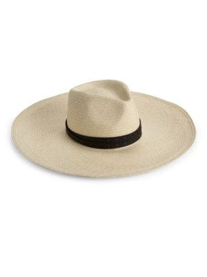Wide-Brim Panama Straw Hat