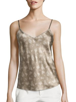 Calico Floral-Print Silk Camisole by Vince