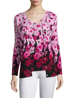 COLLECTION Floral Print Cardigan by Saks Fifth Avenue