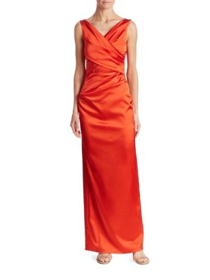 Sleeveless Ruched Gown