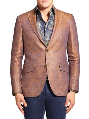 Sheen Textured Linen Blazer
