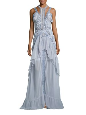 Atlantis Rises Embellished Ruffle Gown
