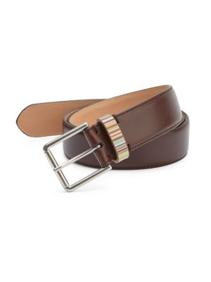 Zamac Buckled Leather Belt