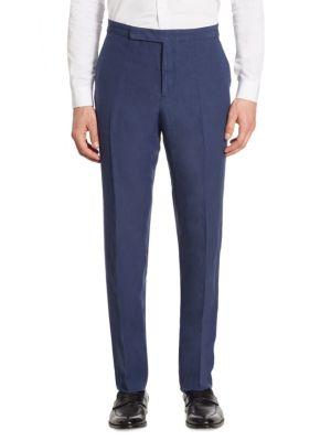 Anthony Classic-Fit Silk & Linen Pants