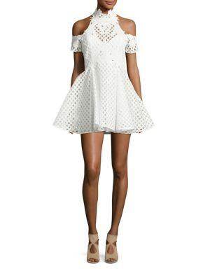 Be Mine Lace Cold-Shoulder Dress