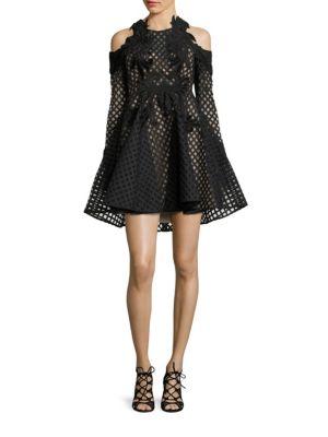 Hybrid Lace Cold Shoulder Dress