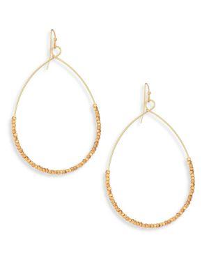 Beaded Hoop Earrings/2