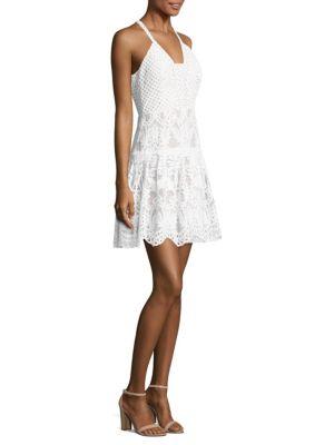 Adella Halter Lace Dress